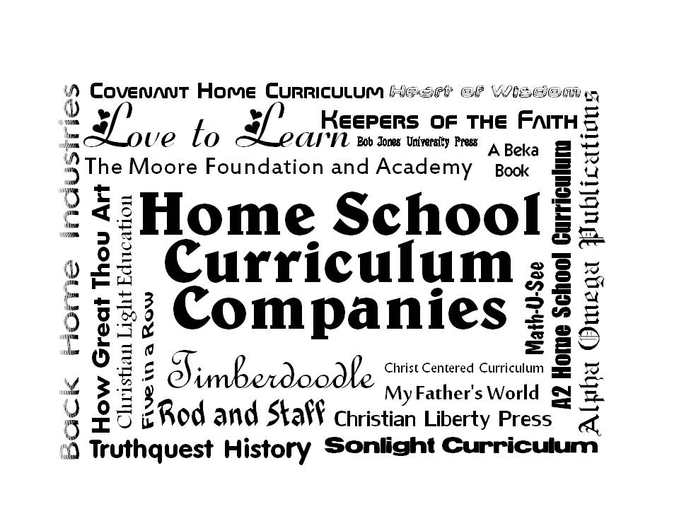 Home School Curriculum Companies