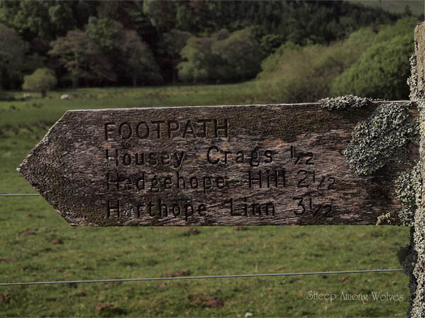 Housey Crag Sign
