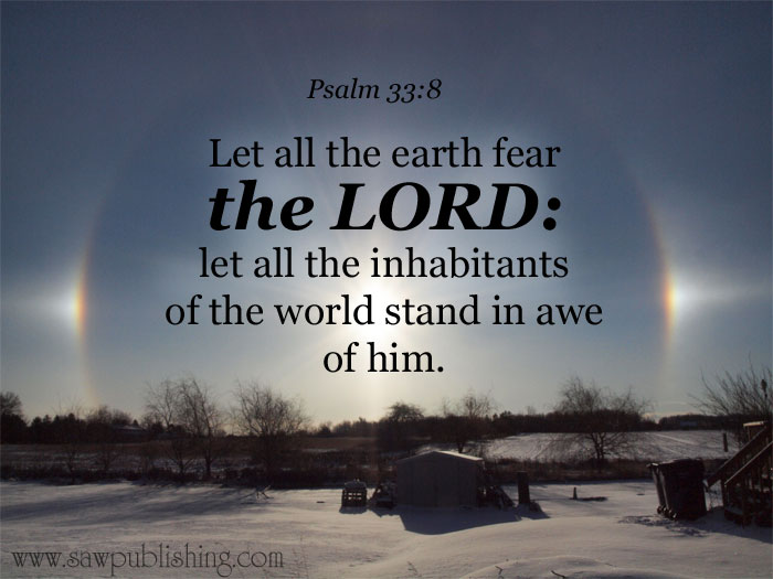 Let all the earth fear the LORD: let all the inhabitants of the world stand in awe of him.