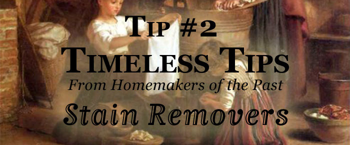 How To Use 100-Year-Old Stain Removers – Timeless Tip #2