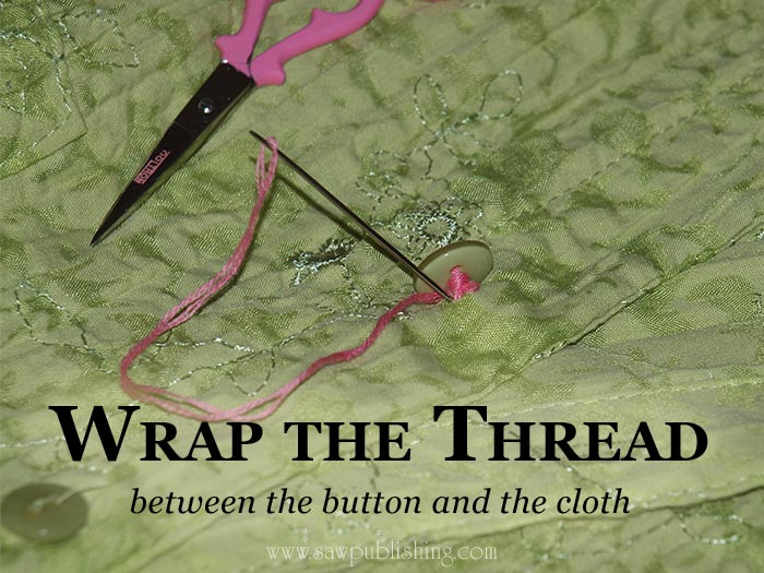 Is there a right way to sew on a button? Here's an ingenious Timeless Tip for how to sew on a button with a needle – and a pin.