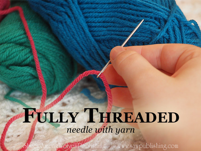 Yarn too bulky for the eye of a needle? Today's Timeless Tip shares an easy idea for how to thread a needle with yarn without wasting a second.