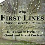 The first lines of your poem are like an advertizing campaign - they should clearly reflect what you are selling, and attract your target customer.