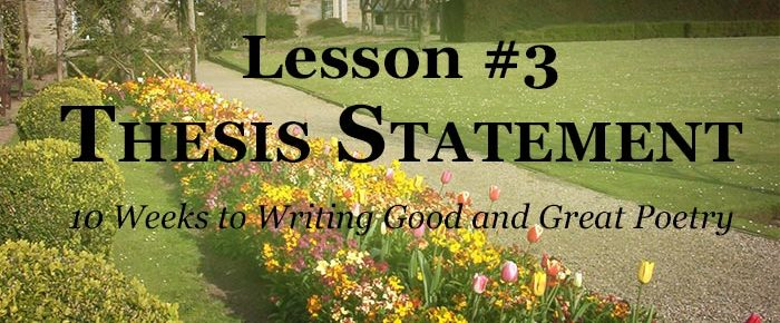 Finding Your Thesis Statement