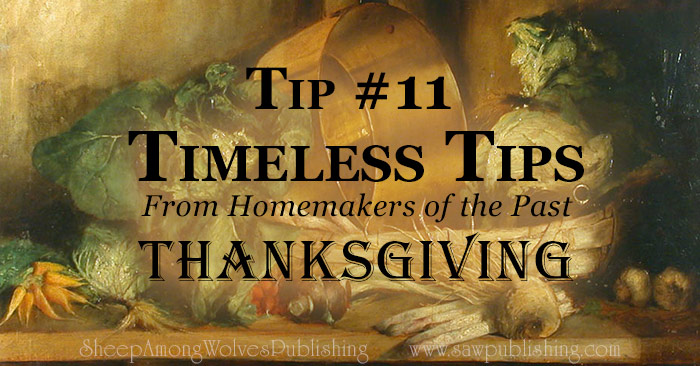 Today's Timeless Tip offers some valuable hints for how to include children in Thanksgiving preparations – without adding stress to your holiday!