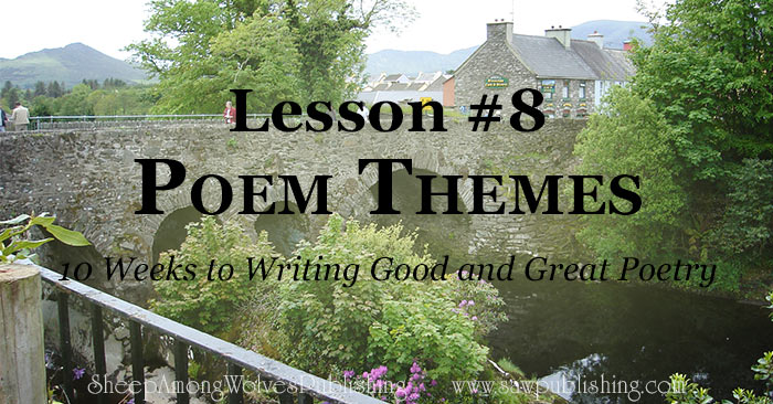 As poets, we all have a wonderful opportunity to branch out into poem themes that we have never tried before.
