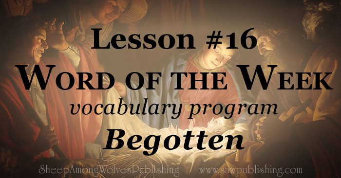 The Word of the Week Lesson #16 takes a look at John 1:14 and John 3:16 as we explore the meaning of the word BEGOTTEN.