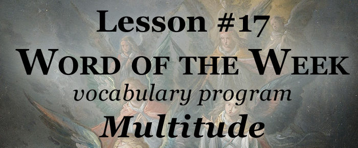 Word of the Week Lesson #17 – MULTITUDE