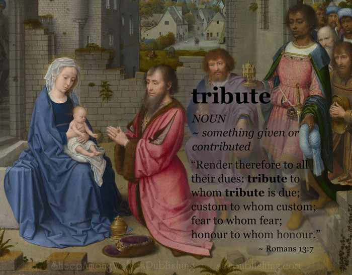 The Word of the Week Lesson #28 takes a look at Romans 13:7 as we explore the meaning of the word TRIBUTE.