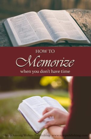 Would you like to memorize, but just can't find the time? Today's Timeless Tip from Homemakers of the Past offers a valuable secret for making the most of the minutes you already have.