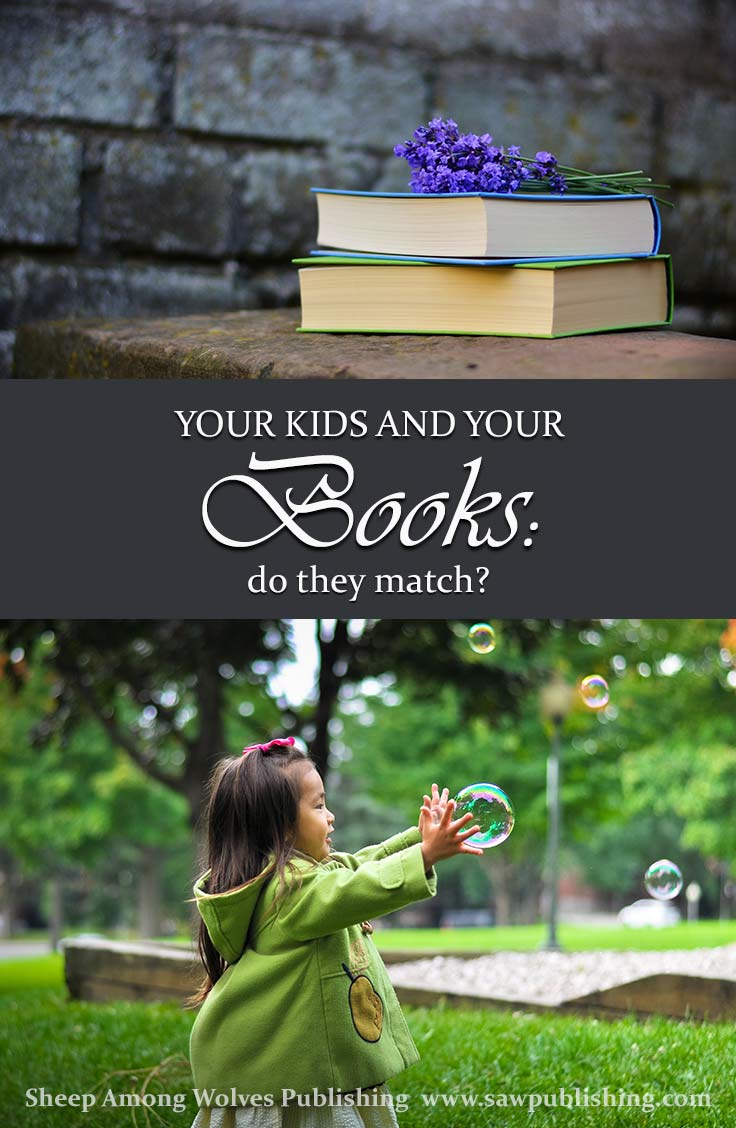 Do your kids and your books fit together? Does your reading material actually reflect the values you want your children to embrace? How much does it matter?