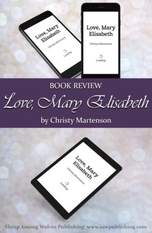 Do you consider yourself to be an adventurous person? Or maybe you just like to READ about adventurous people? Love, Mary Elisabeth is the chronicle of the many adventures and trials that Mary Elisabeth goes through in the year she spends at her uncle and aunt's farm in rural Washington.